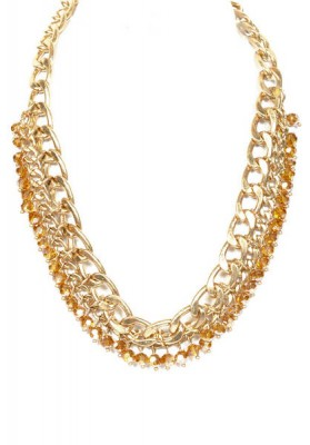 Gold Chain With Glass Beads