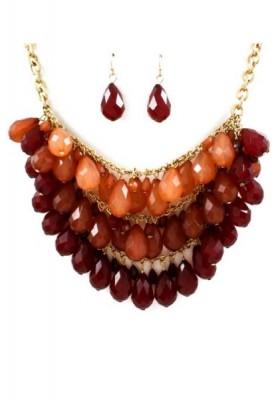 Tear Drop Necklace & Earrings