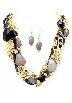 Beaded Necklace & Earrings