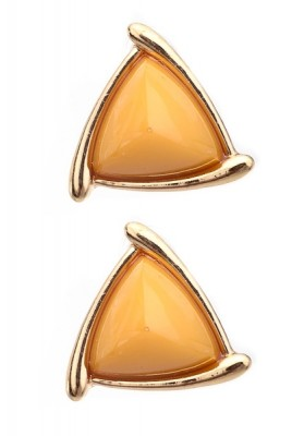 Pyramid Gemstone Earrings