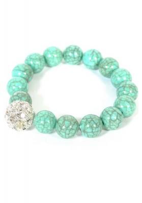 Glass Gemstone Bracelet